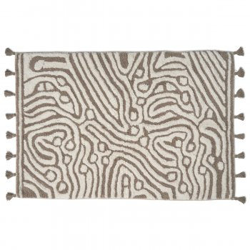 Badrumsmatta Maze Simply Taupe/ Vit Classic Collection