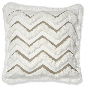 Cushion Cover Camden White/ Simply Taupe