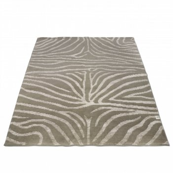 classic collection rug Zebra Greige linen