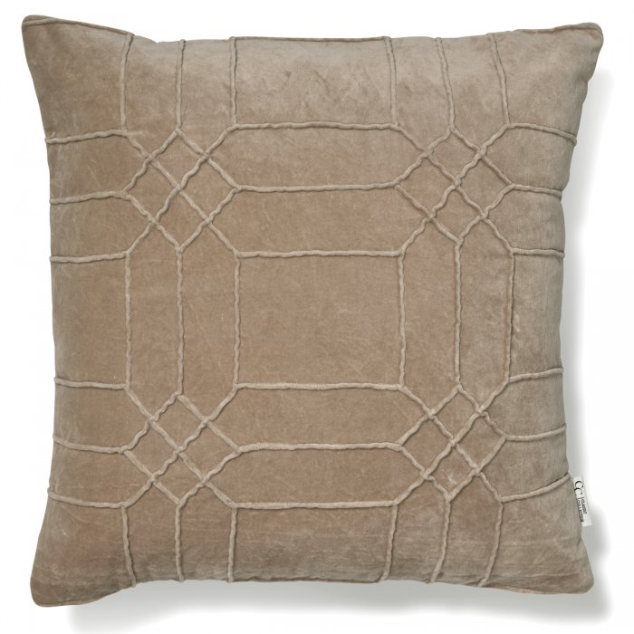 Kuddfodral Delhi Simply Taupe Classic Collection